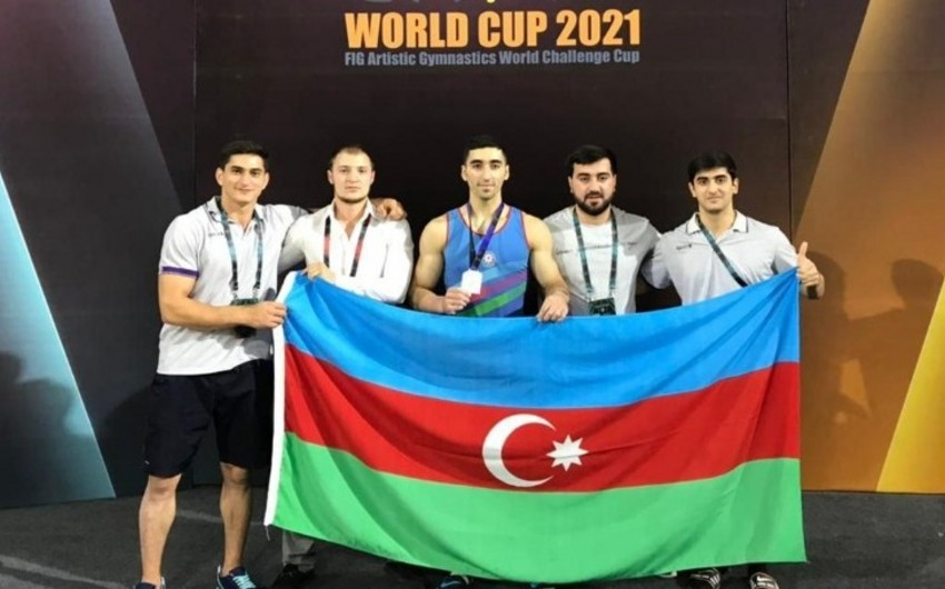 Gimnastımız Misirdə gümüş medal qazandı