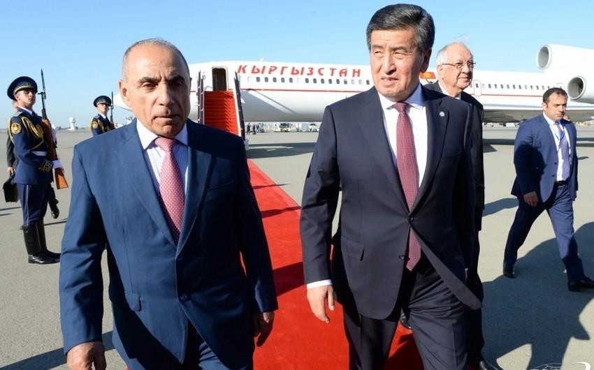 Qırğızıstan Prezidenti Azərbaycana səfərə gəlib - YENİLƏNİB