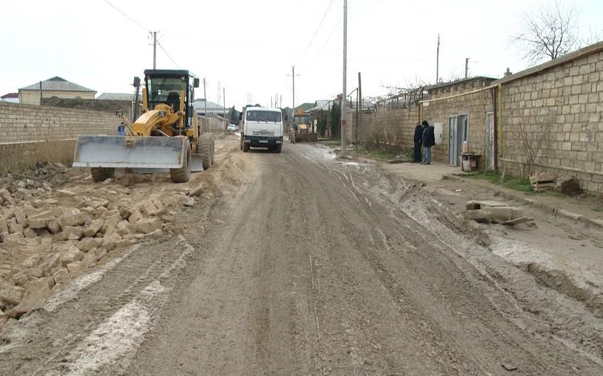 Sabunçu-Ramana avtomobil yolu təmir olunur