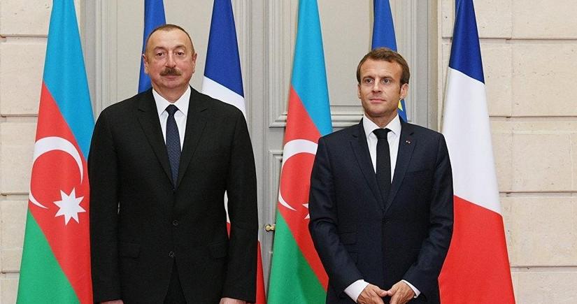 Ilham Aliyev and Emmanuel Macron discuss situation on Armenia-Azerbaijan border