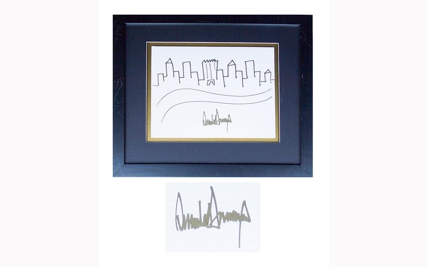 Donald Trampın çəkdiyi şəkil hərracda 29 min dollara satılıb