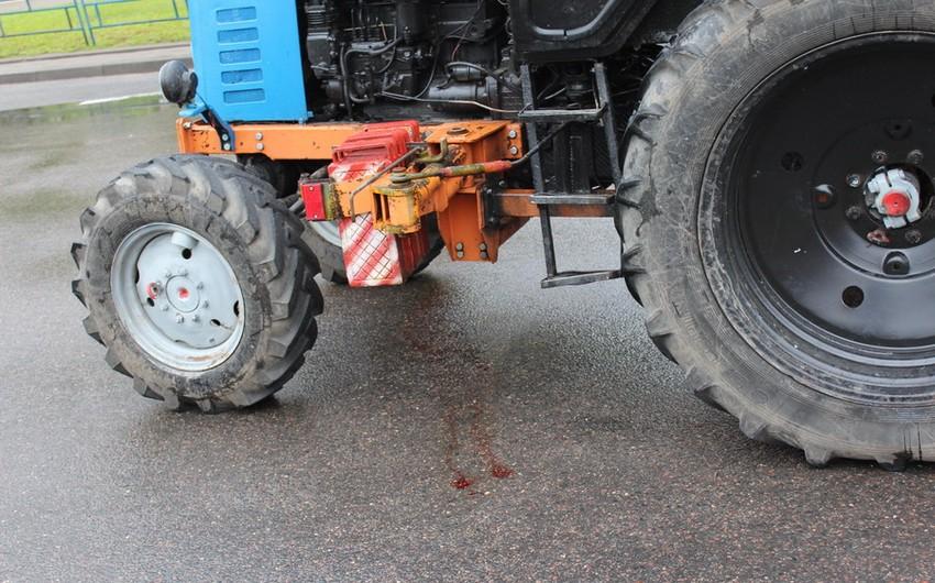 Nərimanovda traktor piyadanı vurdu