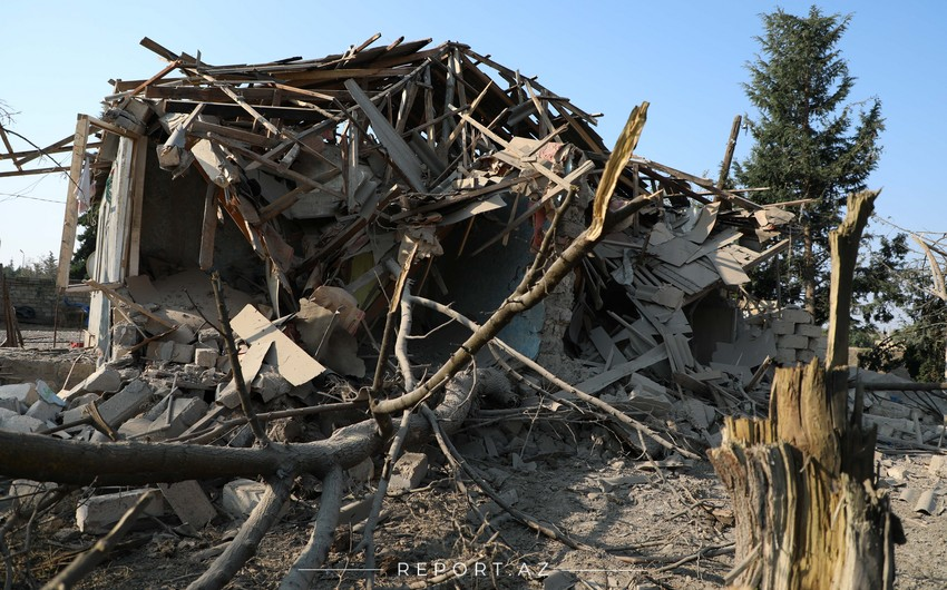 Выпущенная армянами ракета Смерч разрушила дом в Тертере