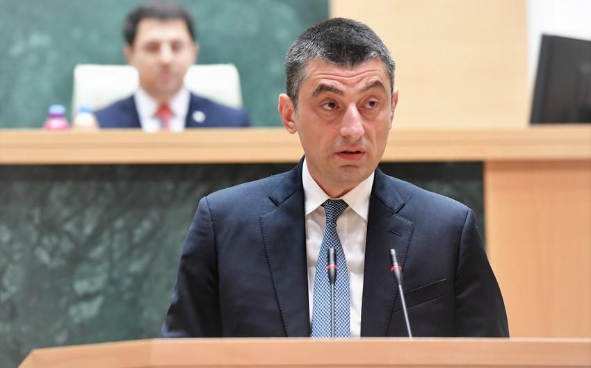 Gürcüstanın baş naziri bəyanat yayıb