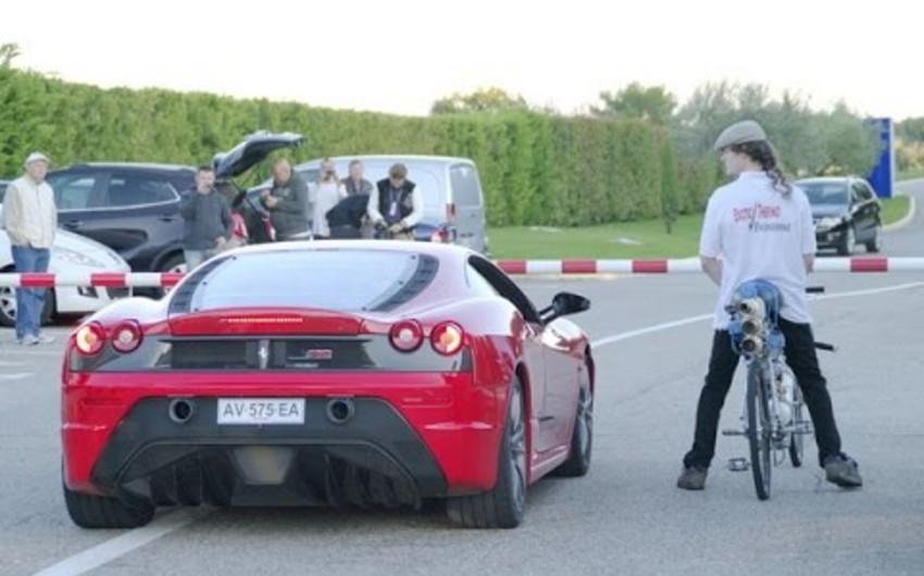 Fransalı velosipedçi 333 km/saat sürət yığaraq Ferrarini geridə qoyub