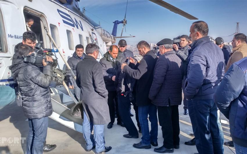 İtkin düşən neftçilərin ailə üzvlərinin axtarışda iştirakı üçün 3 helikopter ayrılıb