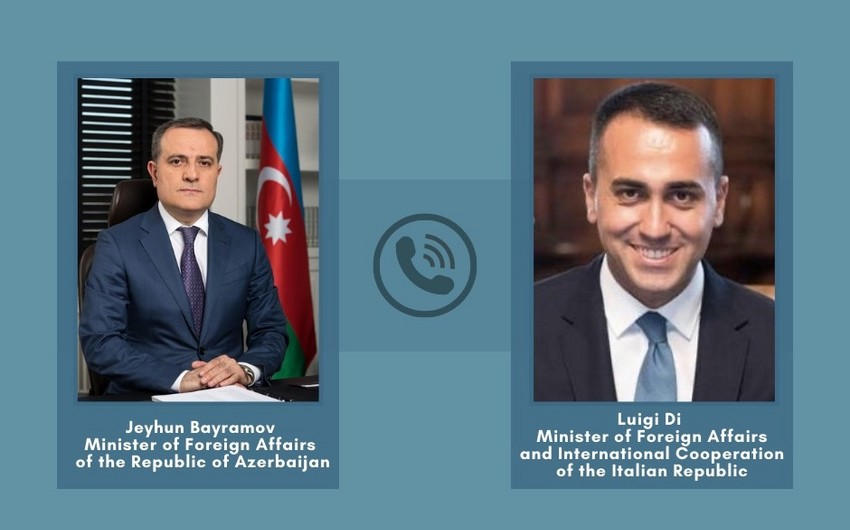 Azerbaijani and Italian Foreign Ministers hold phone conversation