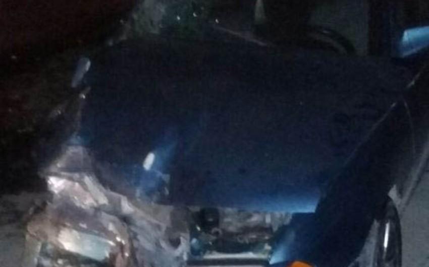 Xaçmazda iki maşının toqquşması nəticəsində 6 nəfər yaralanıb - FOTO - YENİLƏNİB