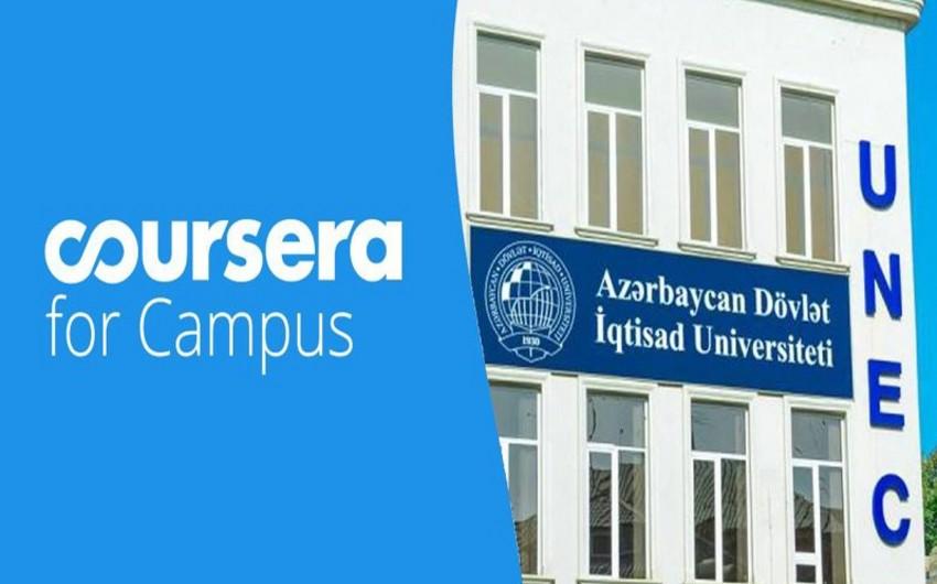 """UNEC tələbələri """"Coursera for Campus""""da yüksək aktivlik göstərirlər"""