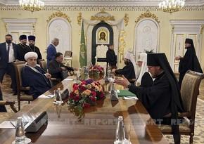Azerbaijani, Russian top clerics meet in Moscow