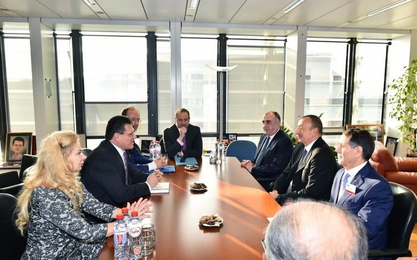 Avropa Komissiyasının vitse-prezidenti Davosda Azərbaycan prezidenti ilə görüşəcək