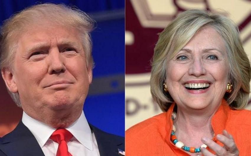 Hillari Klinton ABŞ prezidenti kürsüsü uğrunda mübarizədə rəqibindən bir qədər irəlidədir