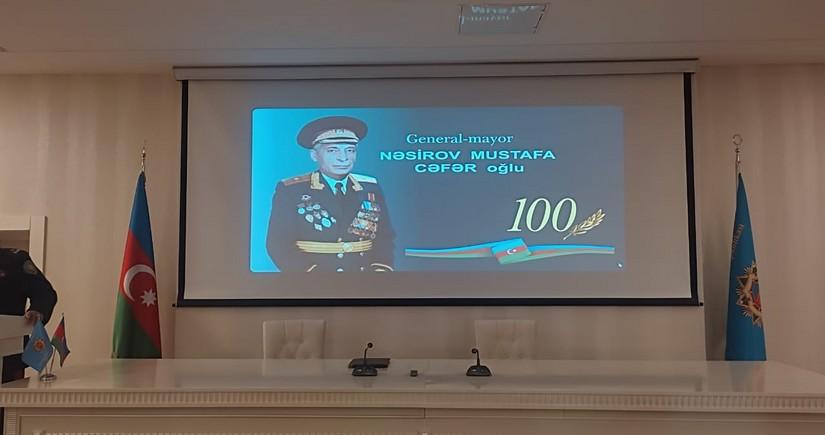 General-mayor Mustafa Nəsirovun 100 illik yubileyinə həsr edilən tədbir keçirilib