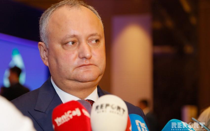 Moldova prezidenti: Azərbaycan xalqı sabitliyi seçəcək