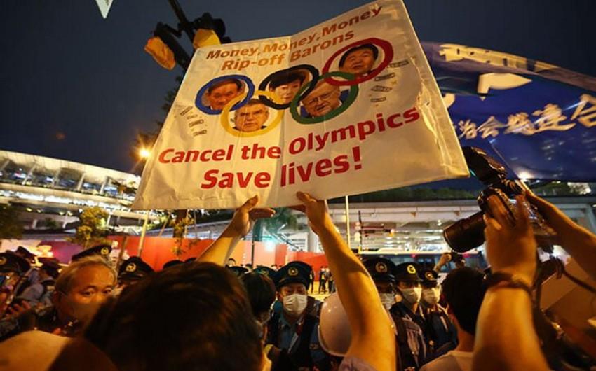 Tokioda olimpiada əleyhinə etiraz aksiyası keçirilir