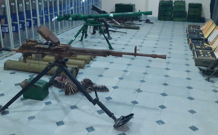 Weapons thrown by enemy in Sugovushan found