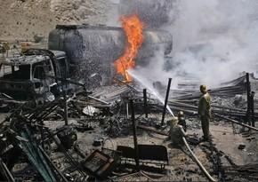 Əfqanıstan-İran gömrük məntəqəsində yanğın zamanı 70 nəfər xəsarət alıb