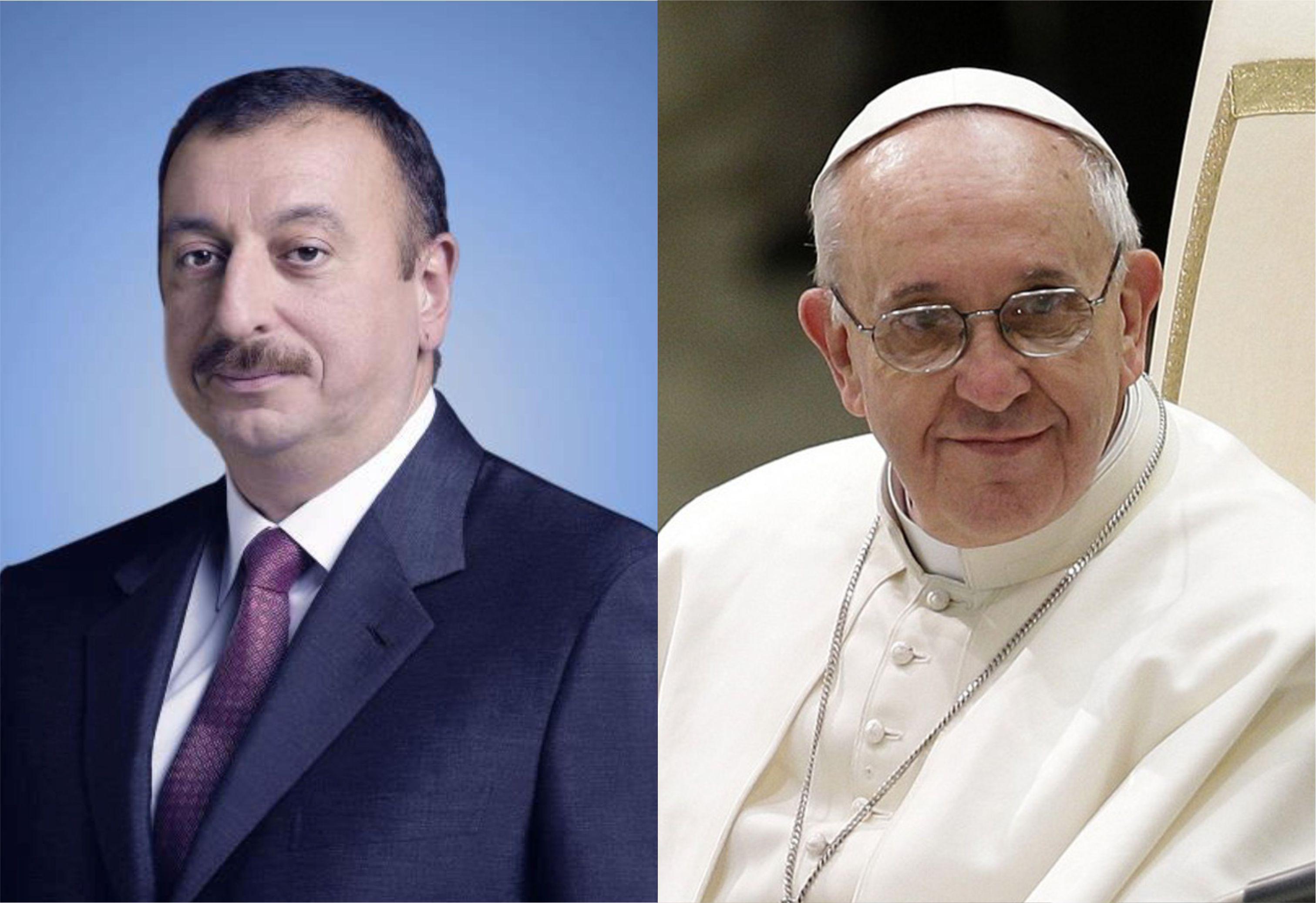 Папа Римский направил президенту Азербайджана поздравительное письмо