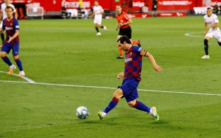 Messi ad günündən öncə Barselonada yeni göstəriciyə imza atıb