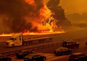 California wildfires forced about 120 thousand to evacuate
