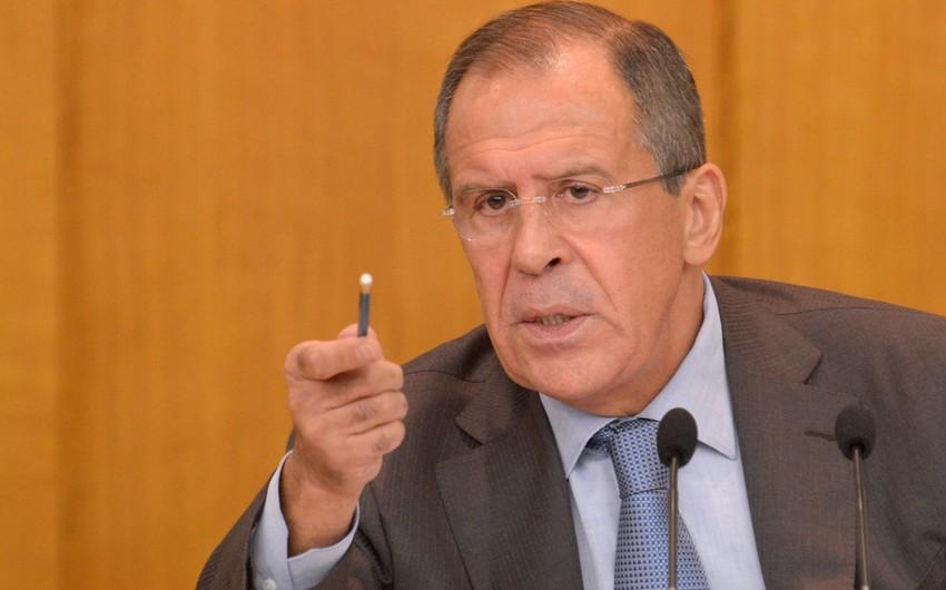 Lavrov Rusiyanın Suriyada hərbi əməliyyatları dayandırması üçün şərtləri açıqlayıb