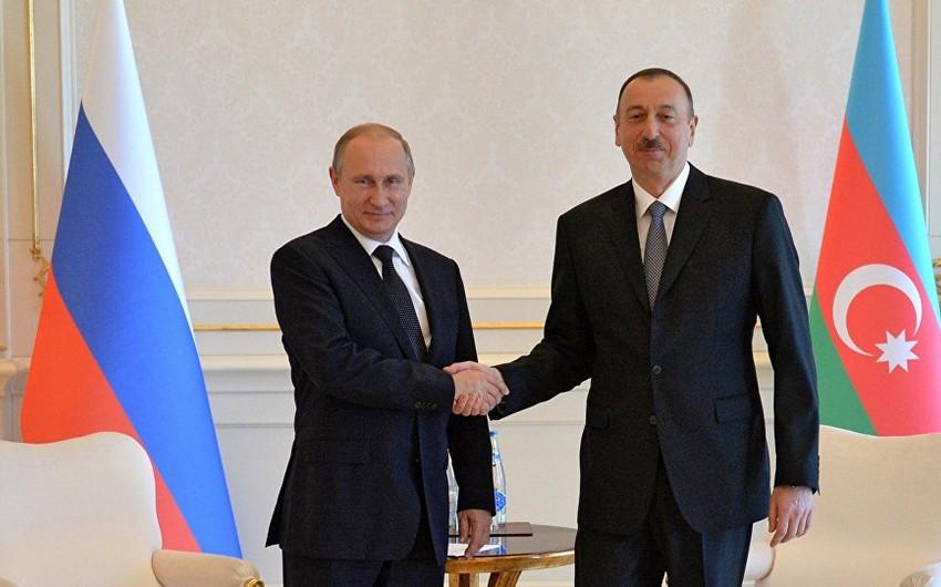 Azərbaycan Prezidenti Vladimir Putini təbrik edib
