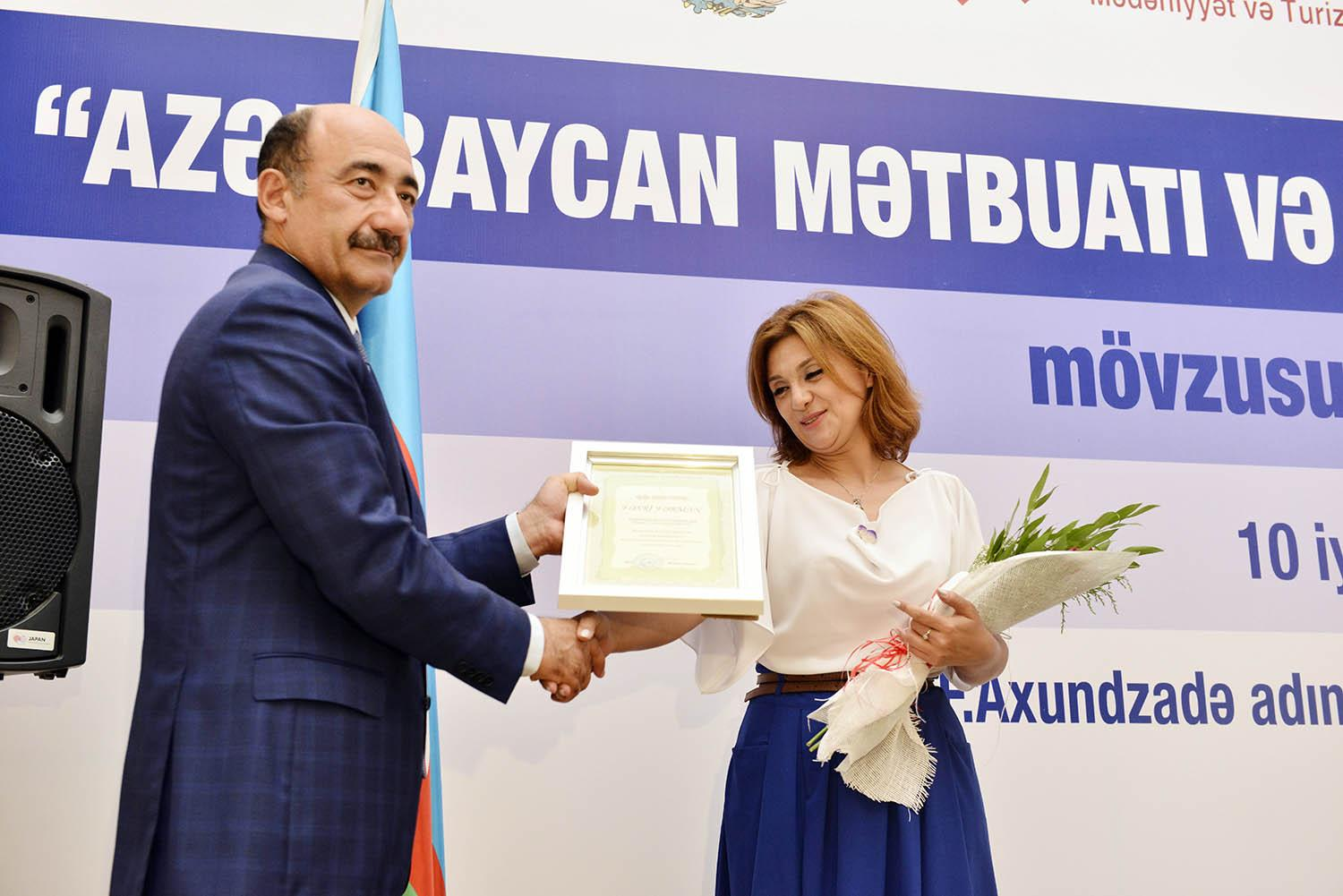 Ministry of Culture and Tourism awarded a group of journalists