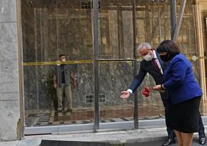 Sahibə Qafarova TBMM-in binasının bombalanmış hissəsi ilə tanış olub