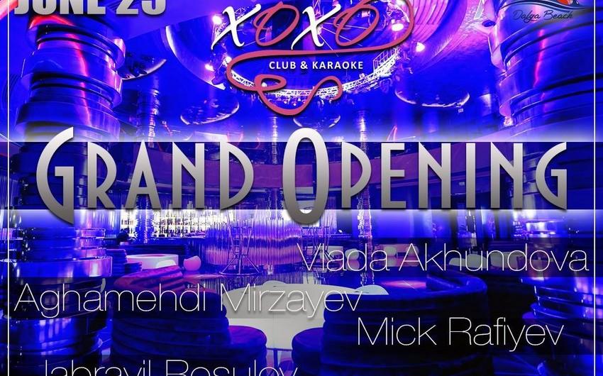 """""""Dalğa Beach-Aqua Park"""" istirahət mərkəzində Xoxo karaoke clubun yeni filialının açılışı olacaq"""