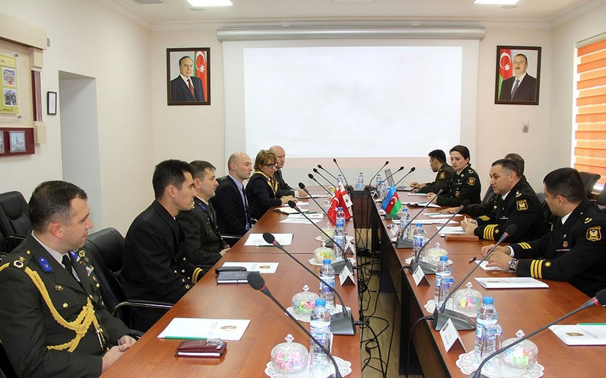 Military personnel of Azerbaijan, Turkey, and Georgia discuss cyber-security