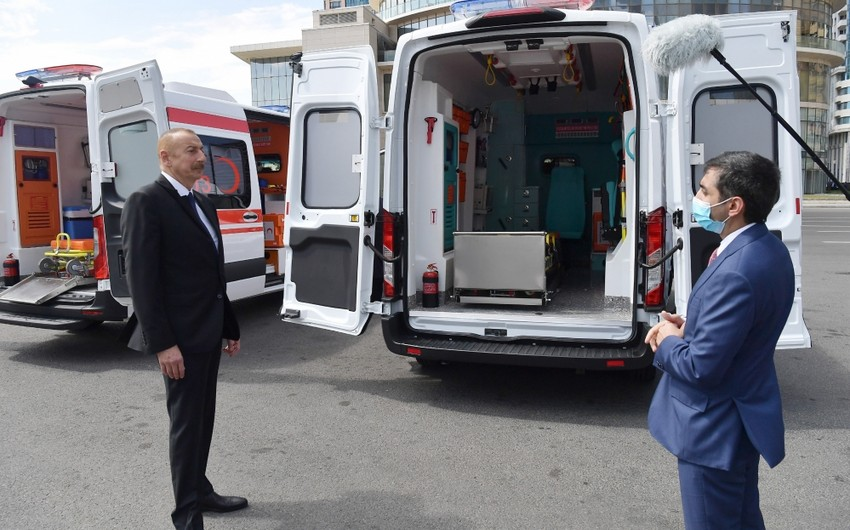 Prezidentin tapşırığı ilə Azərbaycana yenitəcili tibbi yardım avtomobilləri gətirilib