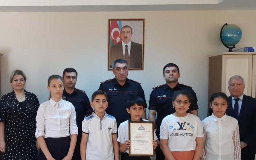 Göygöl polisi müsabiqə iştirakçıları ilə görüşüb - FOTO