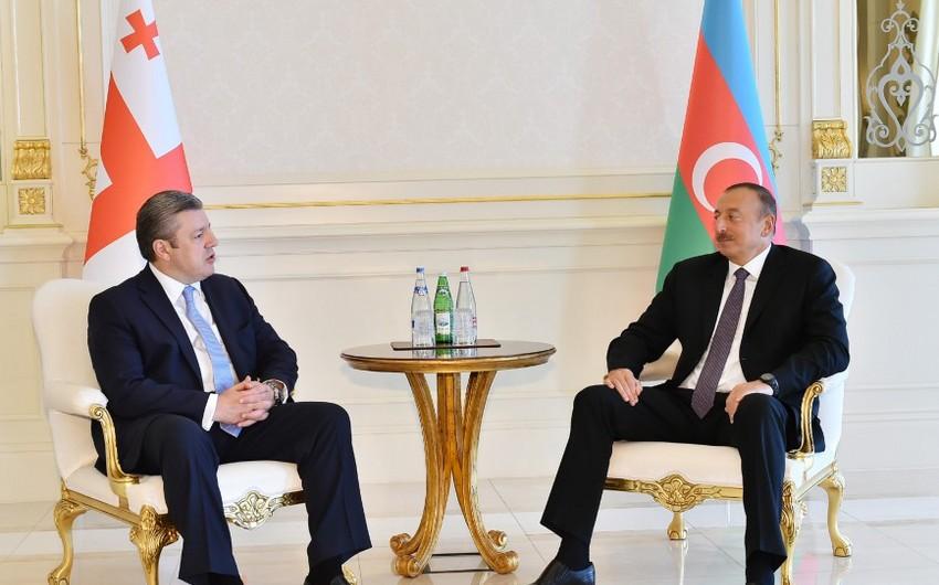 Президент Азербайджана принял премьер-министра Грузии - ФОТО