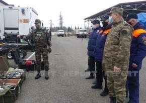 Ağdamda Azərbaycan və Rusiya minaaxtaranlarının birgə təlimi başlayıb