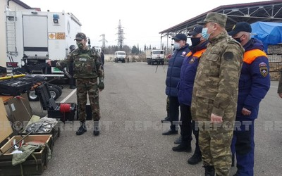 Azerbaijani, Russian mine detectors begin joint training in Agdam