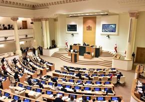 Russian anthem performed in Georgian parliament