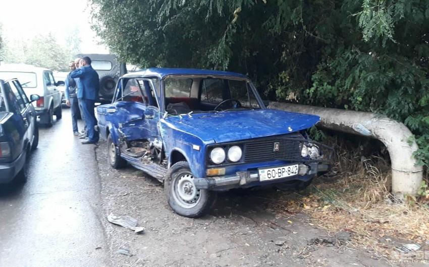 Tovuzda iki avtomobil toqquşub - FOTO
