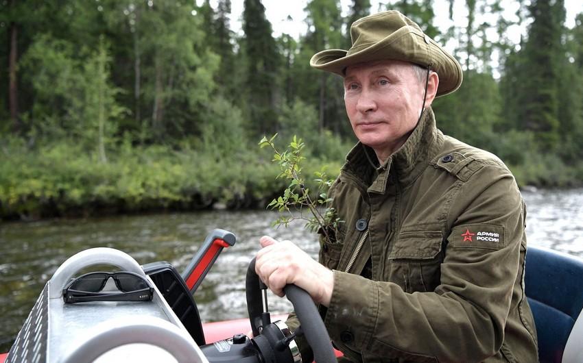 Putin 67 yaşını təbiət qoynunda qeyd edir - VİDEO - FOTO