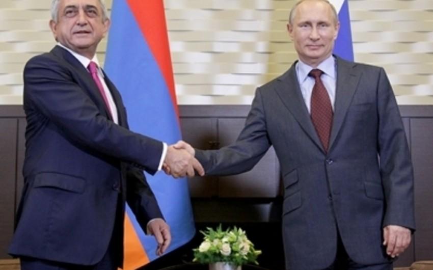 Moskvada Serj Sarqsyan və Vladimir Putin arasında görüş keçirilib