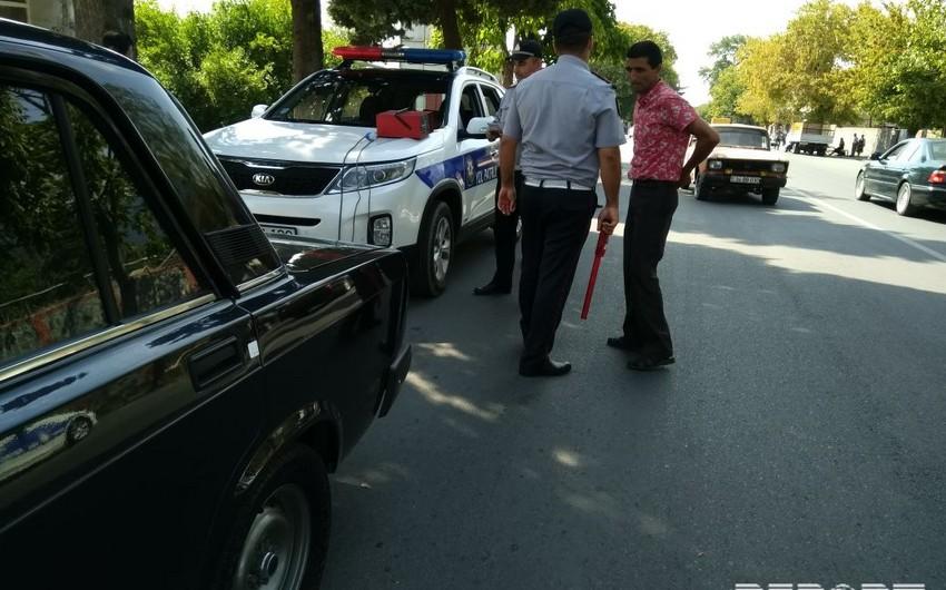 Yol polisi Qaxda reyd keçirib, 70-dən çox sürücü saxlanılıb