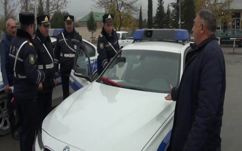 DYP Mingəçevirdə reyd keçirib, 100-dən çox sürücü saxlanılıb - FOTO - VİDEO