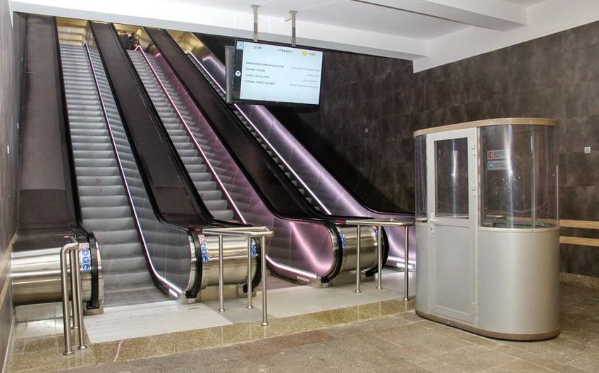 Вестибюль станции Иншаатчылар открылся после ремонта