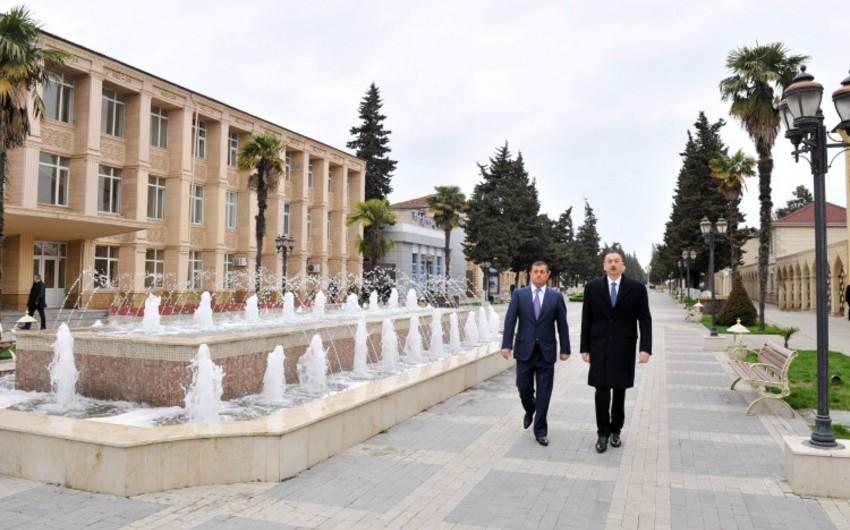 Президент Ильхам Алиев находится с визитом в Астаре