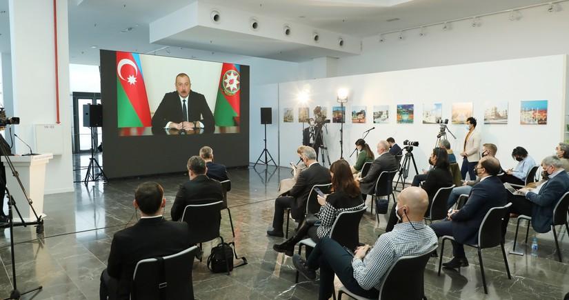 Prezident: Dəyəri 10 milyard dollardan çox olan layihələrdə türk şirkətləri iştirak ediblər