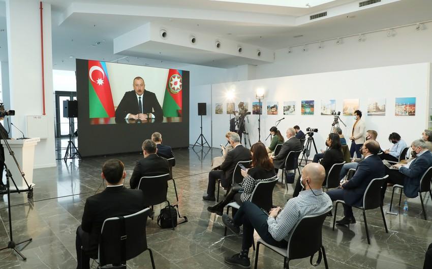"""Prezident: """"Dəyəri 10 milyard dollardan çox olan layihələrdə türk şirkətləri iştirak ediblər"""""""