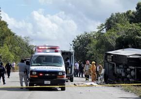 На севере Мексики перевернулся автобус с мигрантами