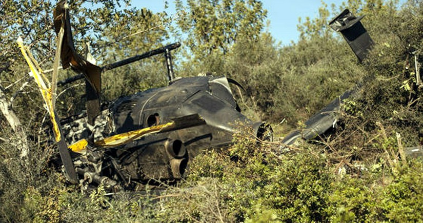 İspaniyada helikopter dənizə düşüb