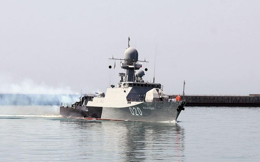 Russian warships arrived in Baku