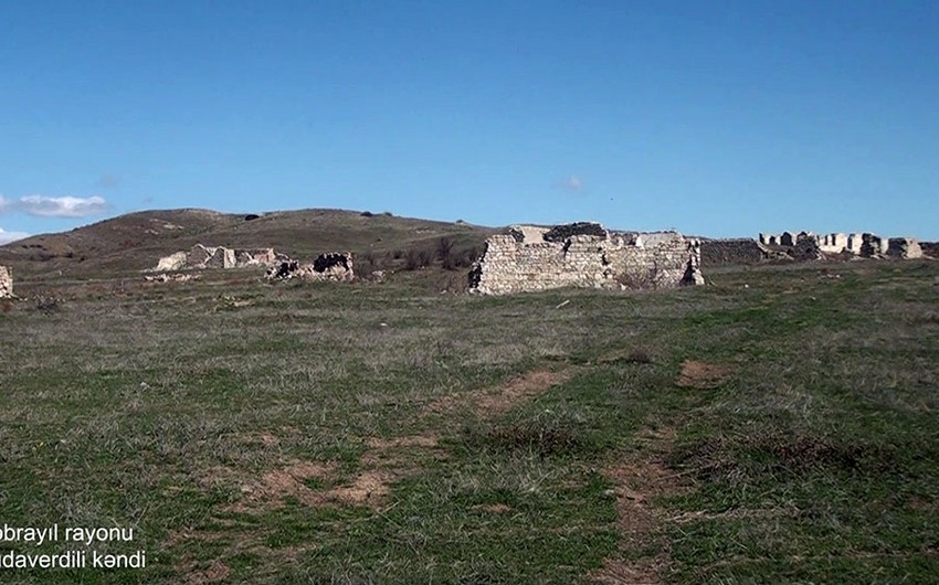 Video footage of Khudaverdili village of Jabrayil region