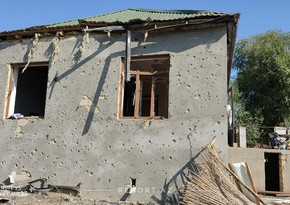 Agjabadi resident wounded after shell hit his house